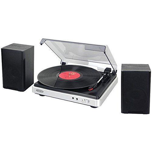Jensen Jta-325 3-speed Turntable With Stereo Speakers (jta325)