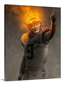 Joe Burrow Canvas 16x20 Cincinnati Bengals Burreaux Quarterback NFL LSU Hero