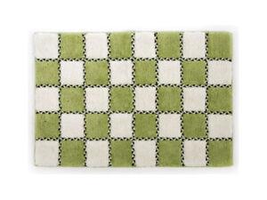Mackenzie-Childs-COVENT-SQUARE-Green-White-Check-BATH-MAT-Rug-24-034-x36-034-NEW-m19-2