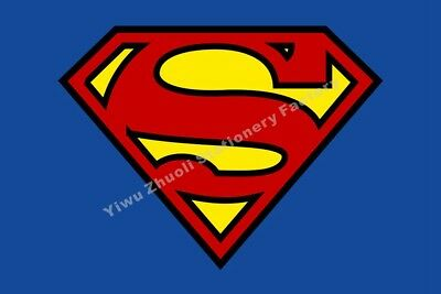 Flags Home & Garden Superman Shield Logo Flag 3x2ft 5x3ft 6x4ft 8x5ft 10x6ft 100d Polyester Banner As Effectively As A Fairy Does