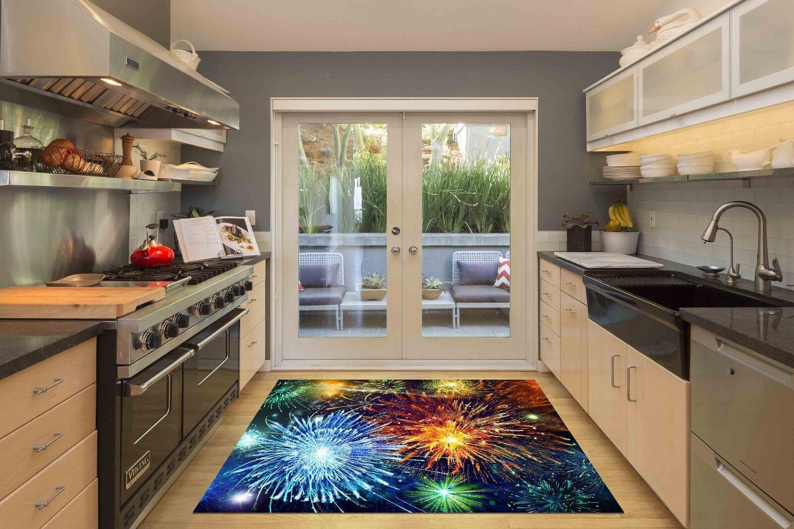 3D Sky Fireworks 7 Kitchen Mat Floor Murals Wall Print Wall AJ WALLPAPER AU Kyra
