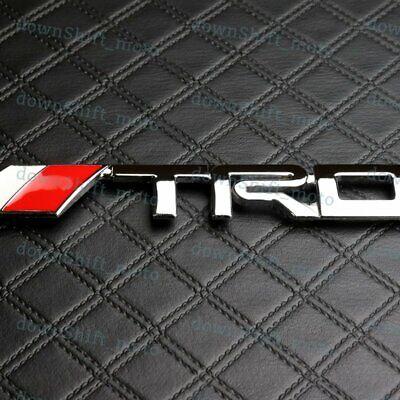 2PC 3D Metal TRD Emblem Car Sticker Decal Racing Development Rear Tailgate Badge