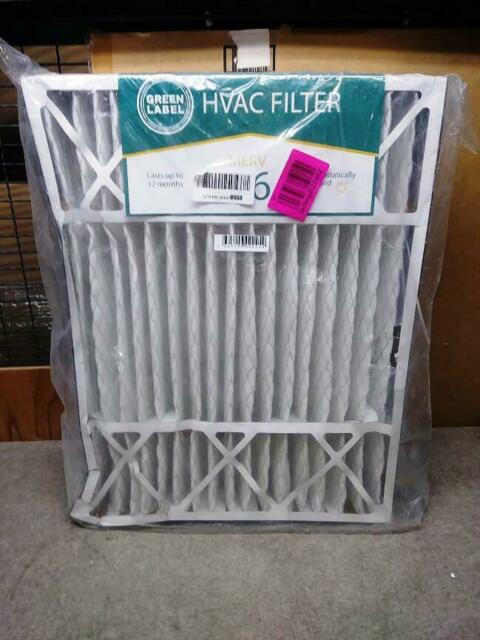 AC Furnace Air Ultra Cleaning Filter MERV 16 Pack of 2 Green Label HVAC Air Filter 20x25x5