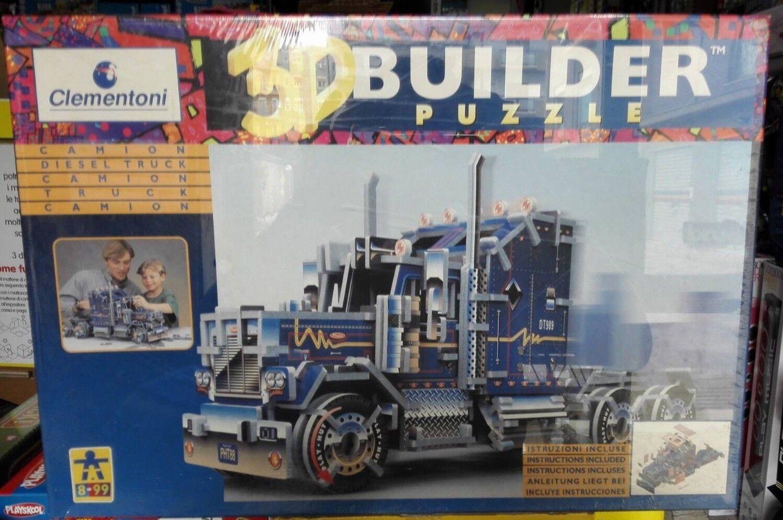 3D BUILDER PUZZLE CAMION CLEUomoTONI VINTAGE