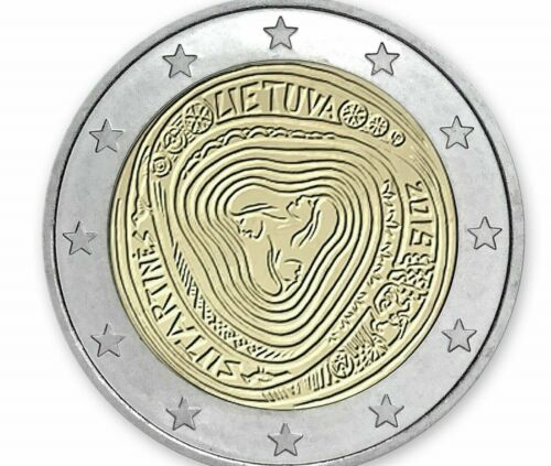 "Lithuania 2 euro coin 2019 /""Lithuanian multipart songs/"" UNC"
