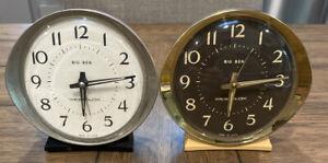 PAIR-Vintage-Westclox-Big-Ben-Made-in-USA-Wind-Up-Alarm-Clock-WORKING