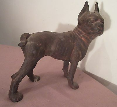 original antique heavy cast iron bull dog Boston terrier door stop statue  Hubley - Bulldog Doorstop Collection On EBay!