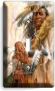 Native American Indian Chief Single Light Switch Wall Plate Cover Room Art Decor Ebay