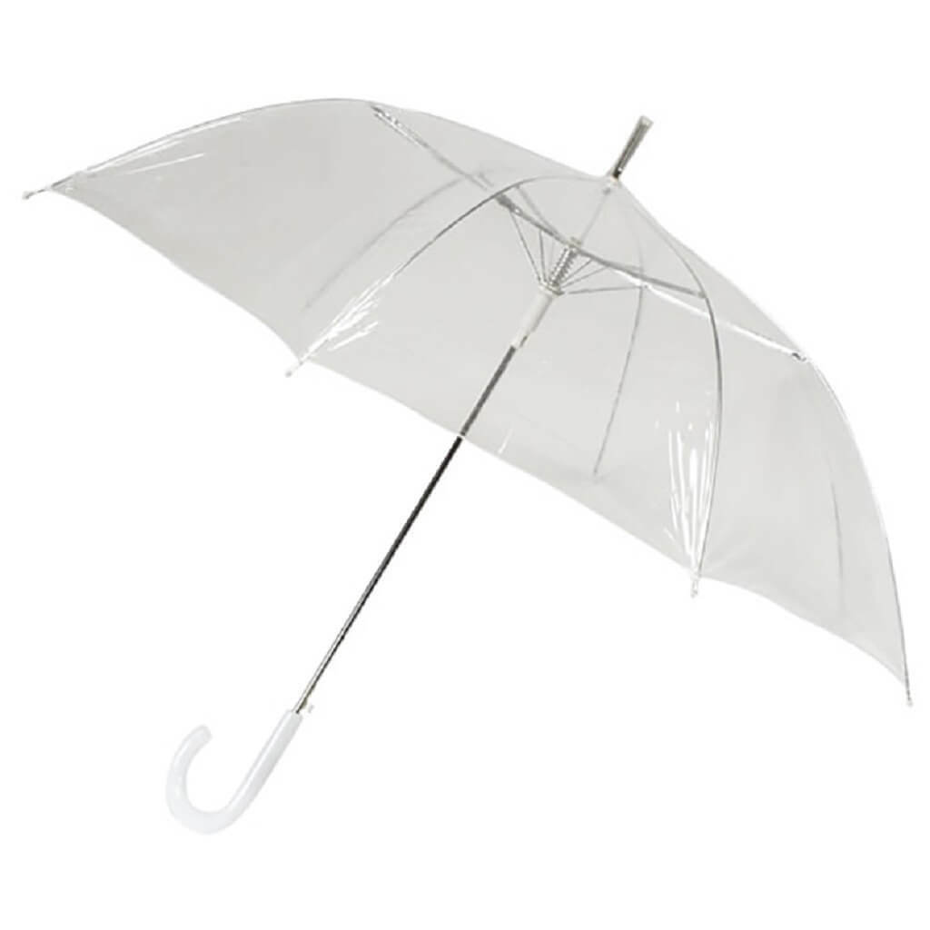 *NEW* Transparent 'Walking Style' Umbrella with Plastic Hook Handle Great Value