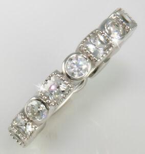 1.5 ct Center Three Stone Ring Top Russian Vintage CZ Moissanite Simulant Sz7