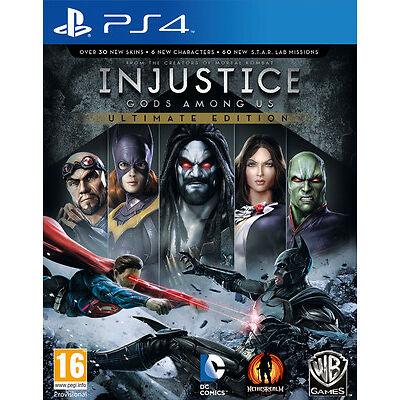INJUSTICE GODS AMONG US ULTIMATE EDITION PS4 BRAND NEW SEALED OFFICIAL PAL