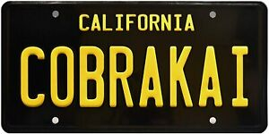 Retro-Karate-Kid-COBRA-KAI-Strike-First-inspired-Car-US-Licence-Plate-Metal-Sign