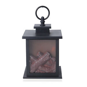 Black-Fireplace-Lantern-with-LED-Lights-Camping-Hiking-Portable-Battery-Operated