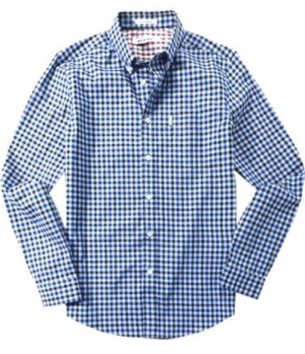 Ben Sherman Hommes à Manches Longues Maison Vichy Chemise à carreaux MA11362 Couleur Bleu Rouge