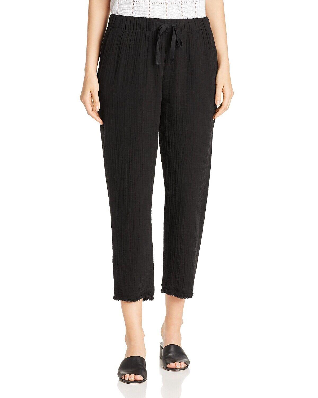 198 Eileen  Fisher XXS, L Negro Gasa recortada pantalones de algodón orgánico  hasta 42% de descuento