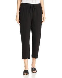 Eileen Fisher $198 XXS Midnight Denim Cropped Drawstring  Ankle Pants