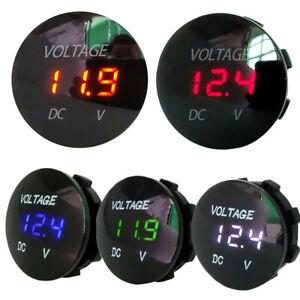 LED-display-Auto-voltimetro-Medidor-de-voltaje-Indicador-de-bateria-Motocicleta