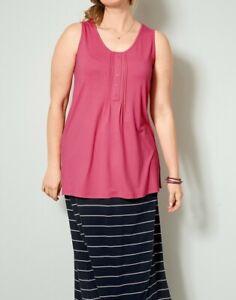 Details zu Janet und Joyce Jersey Top, pink. Gr. 50. NEU!!! SALE%%%