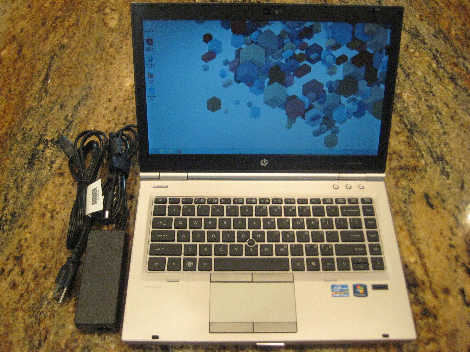 HP 8460p LAPTOP WINDOWS 7 PRO i5 8GB 320GB CDRW/DVD WIFI WEBCAM NOTEBOOK 8440p 1