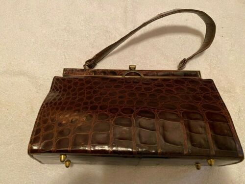 Vintage Genuine Alligator Handbag Vassar