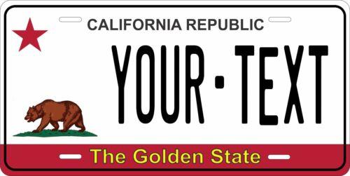 California Bear Flag Personalized Custom License Plate Car Motorcycle Bike