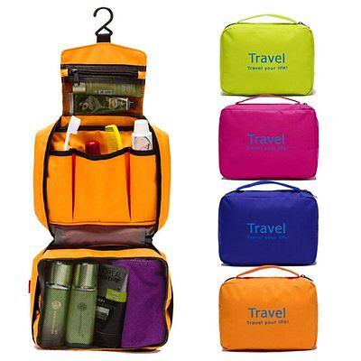 Men Women Waterproof Travel Camping Toiletry Outdoor Wash/Makeup Hanging Bag Hot