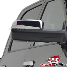 Triple Chrome Top Half Towing Mirror Cover for 10-16 Dodge Ram 2500/3500