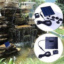Solar Power Fountain Pool Water Pump Garden Sun plants watering outdoor  FE