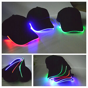 1567f6ffa3f6f Adjustable LED Lighted up Hat Glow Club Party Baseball Hip-Hop Golf ...