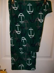 Green Football Micro Fleece Sleep Lounge Pajama PJ Pants Mens Large ... 524efa52b