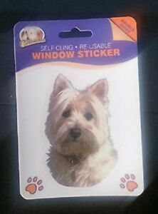 WEST-HIGHLAND-TERRIER-DOUBLE-SIDED-WINDOW-STICKER-STYLE-ONE