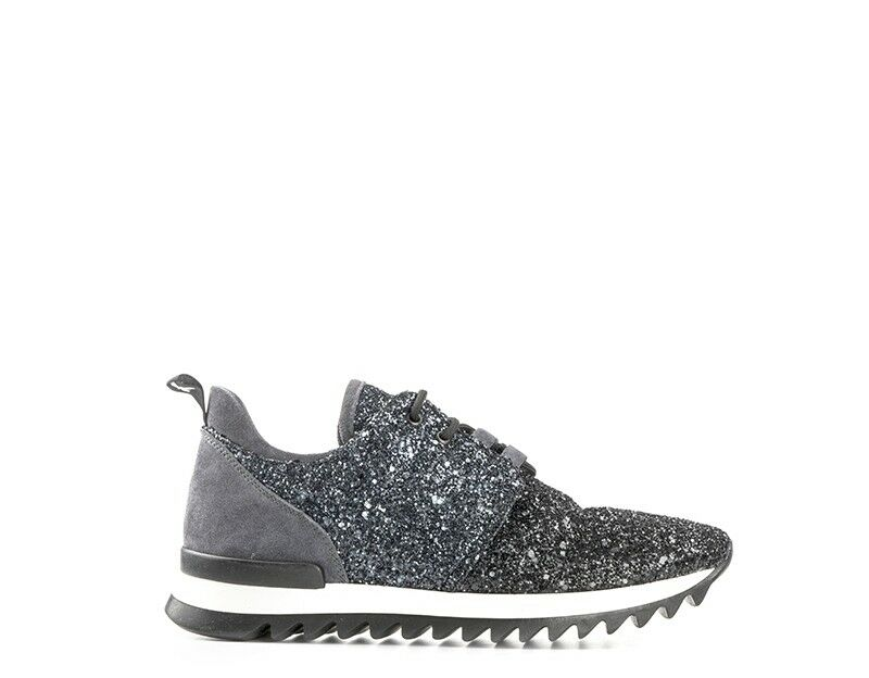 shoes PATRIZIA PEPE women Sneakers Trendy    black Glitter,Pelle naturale 2V6281-A a4700b