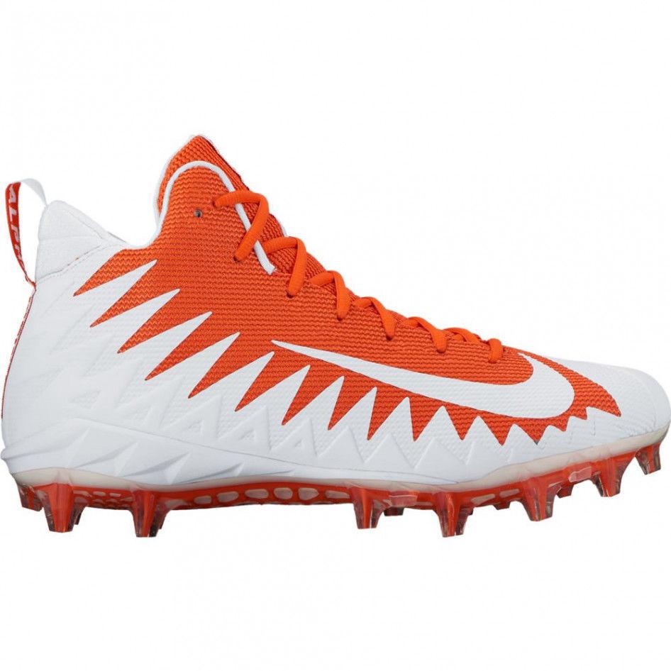 Nike Alpha Menace pro Mid Fútbol Tacos Naranja blancoo 871451-811 Talla 10 Ue 44