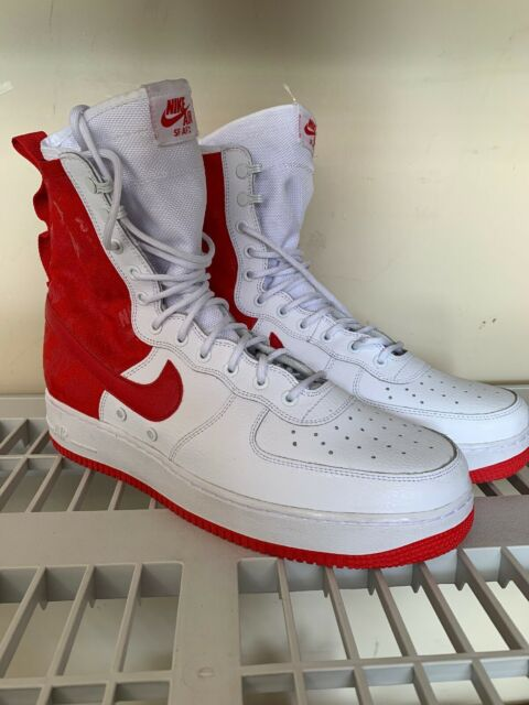 sports shoes 3f230 4bc71 Nike Sf-af1 High Air Force 1 University Red White Special Forces Sz 11