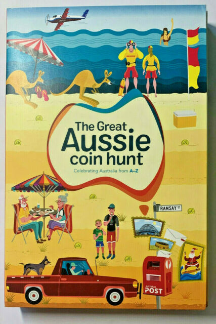 2019 Australia Post Great Aussie $1 Coin Hunt Album and 26 Uncirculated Coins