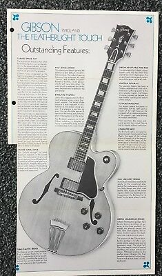 1970's Original Gibson Byrdland Guitar Of The Month Brochure