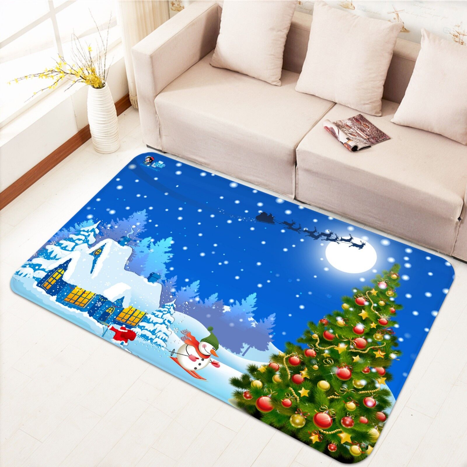 3D Navidad Navidad 20 Alfombra Colchoneta Antideslizante Alfombra De Sala Elegante De Calidad Foto Alfombra