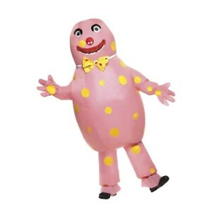 Men-039-s-Mr-Blobby-Noel-039-s-House-Party-Fancy-Dress-Mascot-Costume-Stag-Kids-Party-Do