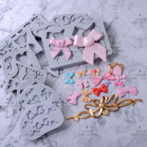 Silicone Butterfly Bow Fondant Mold Cake Decor Chocolate Sugarcraft Baking Molds
