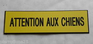 Livraison Rapide Plaque Gravée Attention Aux Chiens Format 70x200 Mm ModèLes à La Mode