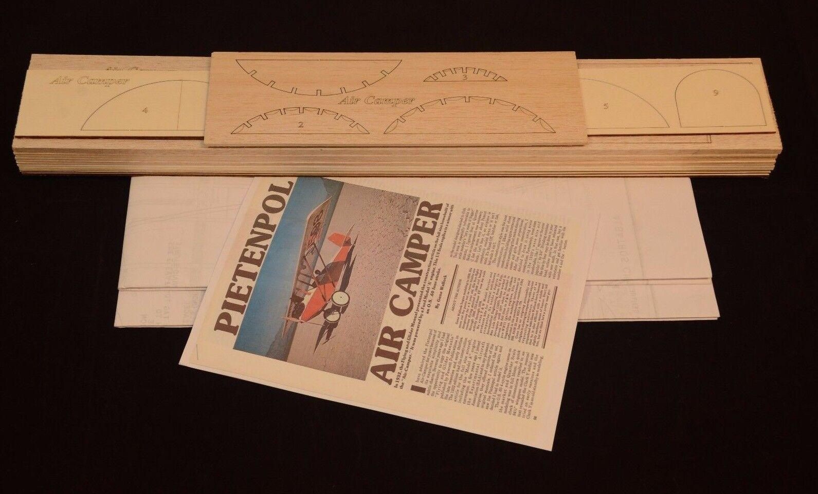 Giant 1 4 Scale Pietenpol Air Camper Laser Cut Short Kit & Plans 85  wing span