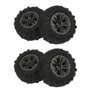 Lot 4 RC Tire Tyres for Xinlehong Q901 Q902 Q903 RC Car Replacements