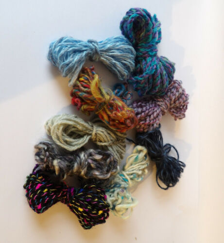 Art Yarn Mix Pack Embroidery Weaving Handspun Texture Chunky UK /& Merino Wool
