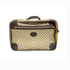 Vintage-1980s-Gucci-Monogram-Beige-Leather-Suitcase-Luggage-Bag
