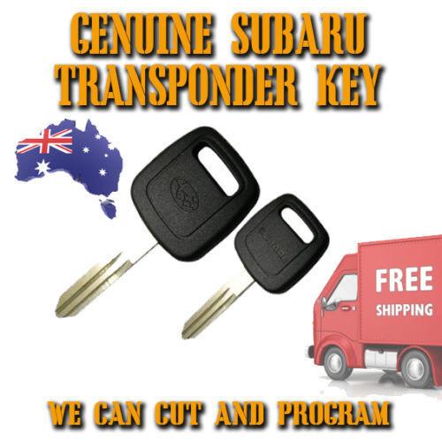 Subaru Chrome Transponder Remote Flip Key Outback New FREE POST Forester