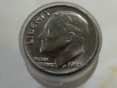 1967 Roosevelt Dime Roll 50 Coins