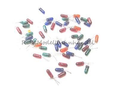 S442-10 20 Stück Miniatur Glühlämpchen blau 3mm 3-5V mit Draht Glühbirnchen