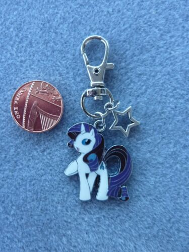 My Little Pony Rarity Keyring Enamel Bag Charm Keychain Birthday Gift # 130