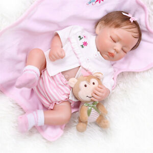 18 Reborn Baby Dolls Girl Full Body Silicone Vinyl Waterproof Baby With Clothes 690324470612 Ebay