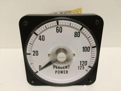 PANEL MOUNT POWER PERCENT METER 2903-001 0001-0508-001 0-125/% NEW OLD STOCK